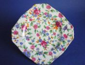 Grimwades Royal Winton 'Old Cottage Chintz' Ascot Shape Tea Plate c1940 #1